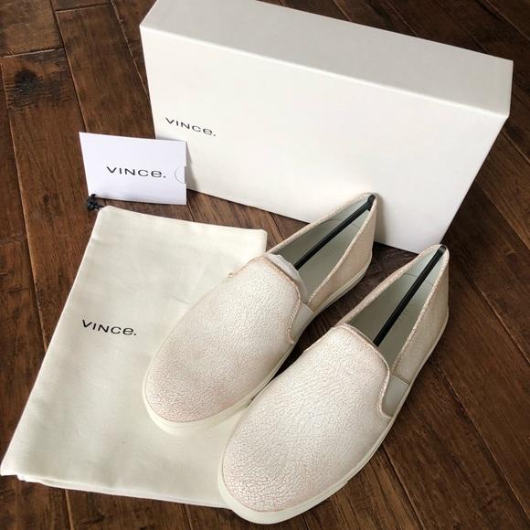 0c8da0183 Vince Shoes   Hp Nib Blair White Cracked Leather Sneaker   Poshmark